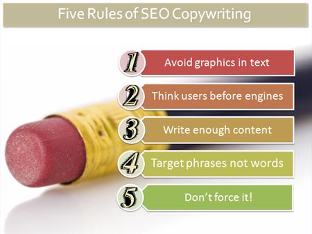 コピーライティングの5つの法則