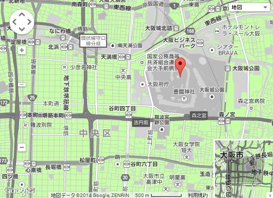 大阪城周辺地図