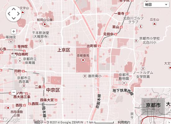 京都御所周辺地図