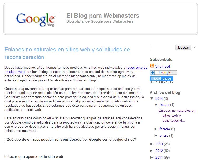 Googleがスペインとイタリアのリンクスパマーに警告