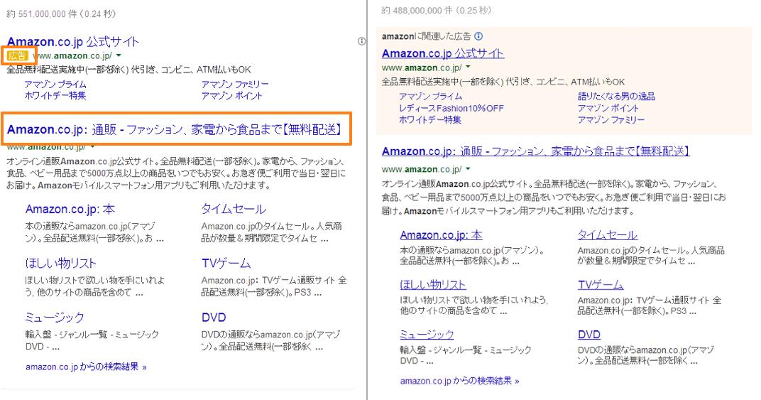 新旧の検索結果