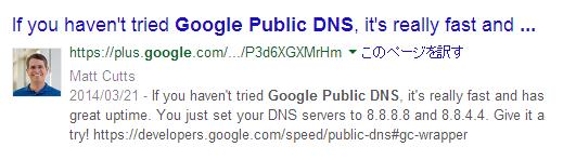 差し込まれるGoogle+の投稿。